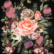 Botanical floral pattern with rose flowers for design. Ideal for fashion fabric designs