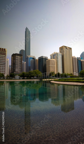 Skyscrapers in the Abu Dhabi city center at UAE