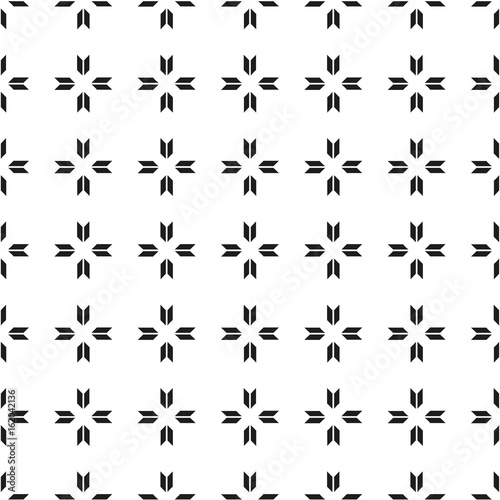 Seamless pattern with geometric shapes and symbols. Vector texture or background pattern. - 162042136