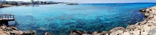 panorama beach coast landscape mediterranean sea Cyprus island - 162051381