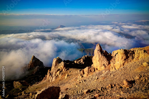 Panorama of Schalbus-Dag mountain at Dagestan, Caucasus Russia Poster