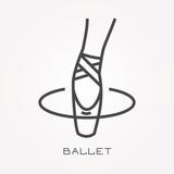 Line icon ballet - 162063957
