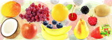 Mixed fresh fruits Healthy natural food concept background