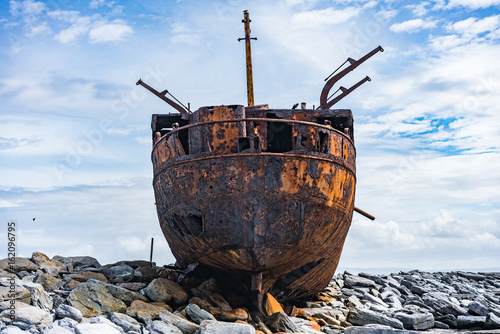 Plassey Shipwreck in the Aran Islands