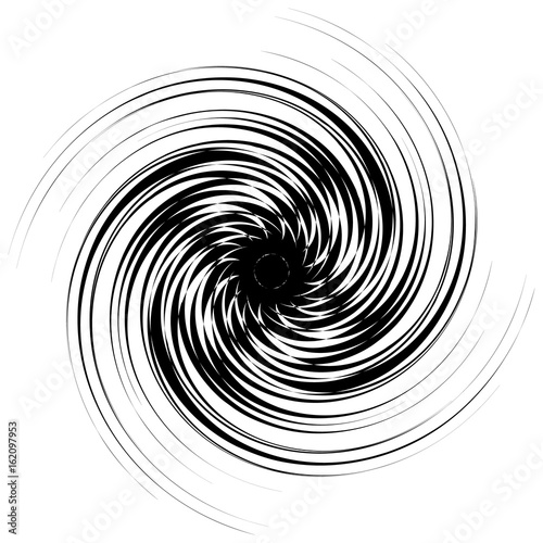 Swirl, twirl shape. Abstract geometric spiral isolated on white - 162097953