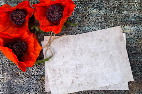 Picture with poppies