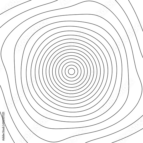 Grid mesh with distortion. Rotating, spiral mesh of lines. - 162107521