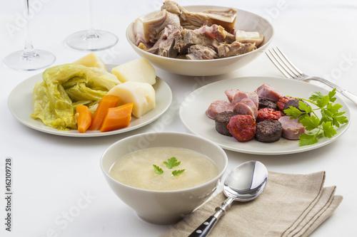 Cozido a minhota, typical stew dish from Portugal