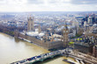 aerial view of Big Ben and London city - 162112539