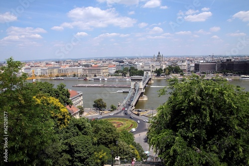 panoramic view at Budapest from Buda hill