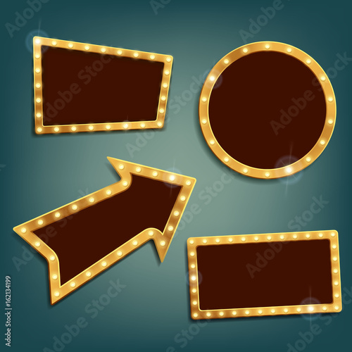 Set Of Vintage Retro Frames And Banners Buy Photos Ap Images