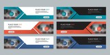flat vector set abstract corporate business horizontal banner design template, and advertising banner layout template