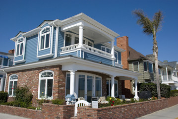 Typisch amerikanisches Haus in Newport Beach, Orange County - Kalifornien