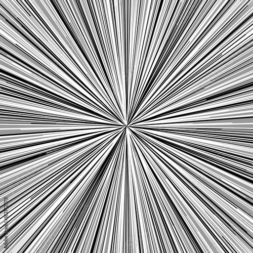 Radial lines element. Abstract geometric illustration. Radiating, bursting line circular pattern - 162142978