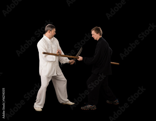 Men fighting martial arts Poster