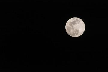 Full Moon against a black sky.