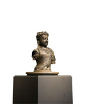 Statue the spirit of South East Asia white background isolate