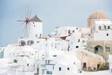 Windmill in Oia, Santorini, Greece - 162159575