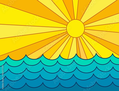 Leinwanddruck Bild - designer_an : Sea and sun.
