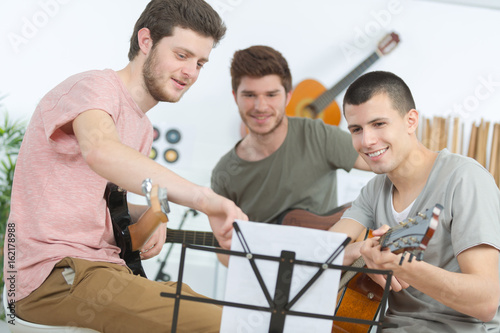 band of musicians playing
