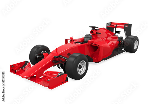 Foto op Plexiglas F1 Formula One Race Car Isolated