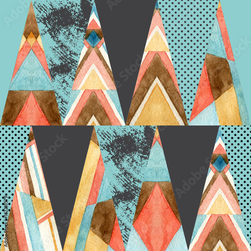 Triangle seamless pattern. - 162218579