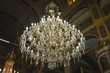 Big Massive Beautiful Chandelier in old ancient church at Burgas, Bulgaria