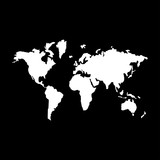 World map   it is the white color icon .