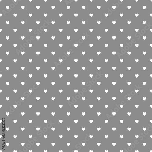 Heart Polka Dot Seamless Pattern Background - 162227370