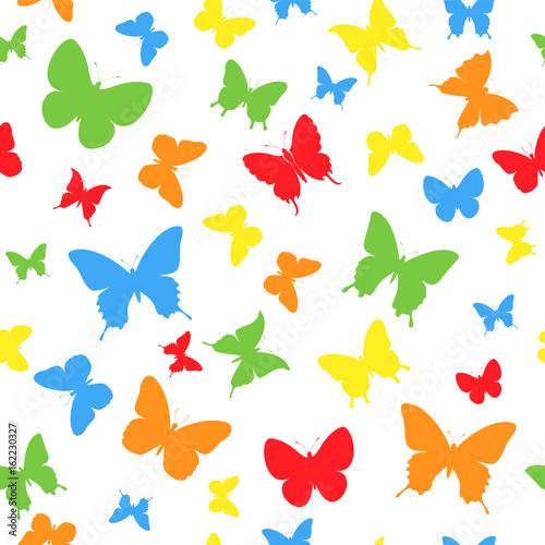 Poster Geometrische dieren color butterfly background