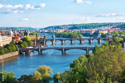 Staande foto Praag Prague Bridges in the Summer. Czech Republic.