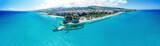 Tropea, Calabria. Panoramic aerail view of Santa Maria dell'Isola Monastery and wonderful coastline - 162236170