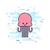 Cute cartoon octopus character
