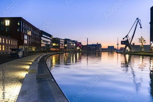 Sunrise Hafen Münster Poster