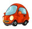 Cartoon car isolated illustration for children