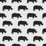 seamless rhino pattern - 162245714