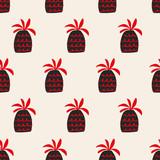 seamless pineapple pattern - 162245733