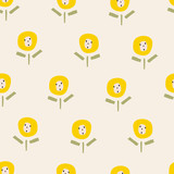 seamless flower pattern - 162245746
