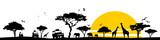 Silhouette Savanne - 162246322