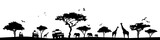Silhouette Savanne - 162246331