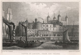 Tower of London and River Thames. Date: 1830 - 162253569