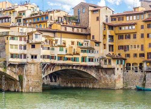Detail of medieval Ponte Vecchio bridge