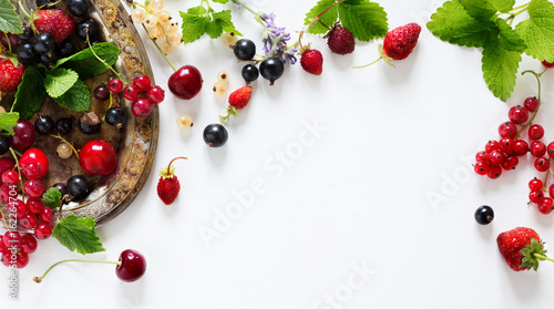 Sticker sweet summer fresh juice fruit background; summer food