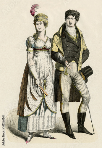 German Couple 1800. Date: 1800 Poster