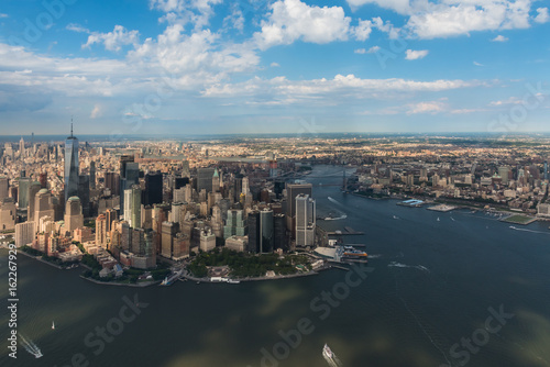 Aerial photo of Manhattan and Brooklyn. New York City. Poster