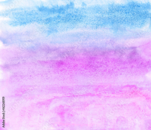 Watercolor background in blue and pink colors - 162268919