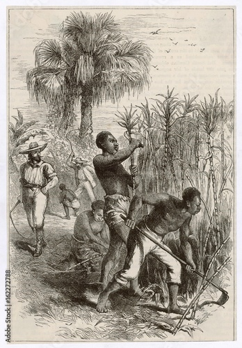 Slavery in the West Indies. Date: circa 1870 Poster