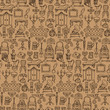 Antiques Doodle Seamless Pattern - 162273979