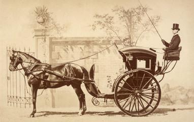 Hansom Cab. Date: circa 1860
