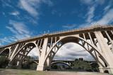 The Colorado Street Bridge and the 134 Freeway bridge over the Arroyo Seco in Pasadena - 162275548